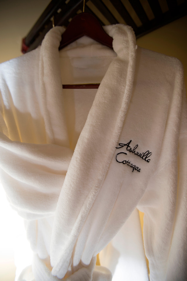 Robes in every cabin in Asheville