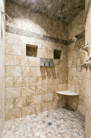 Super large 2 person walk-in shower
