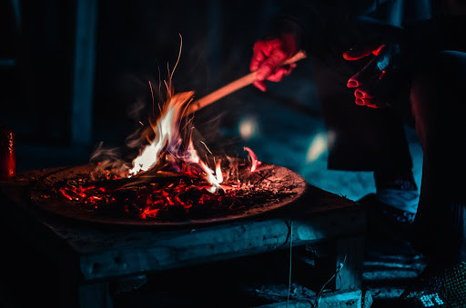Enjoy a night by the fire cooking marshmallows