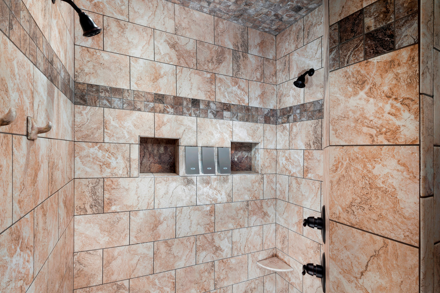 Large walk in double shower