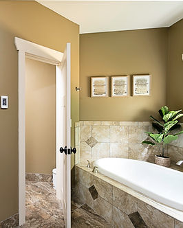 Granite counter top and large garden tub