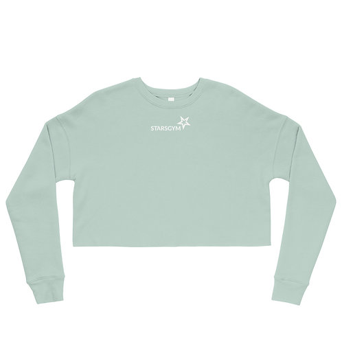 Stars Gym Crop Sweatshirt