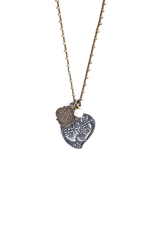 Hearts Medal Necklace