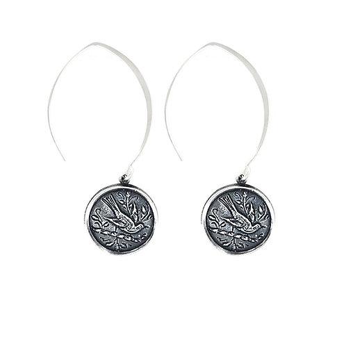 Oiseau Earring silver