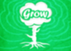 a tree with the word grow indicating the need to cultivate your social media marketing presence
