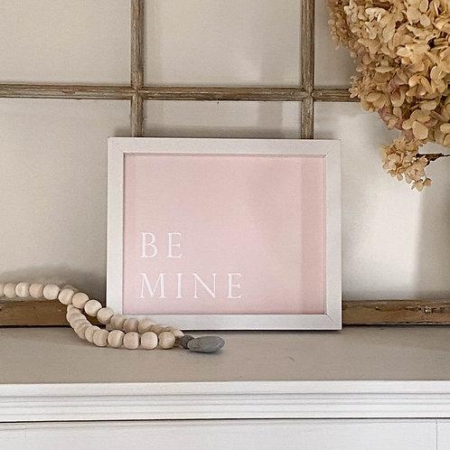 Be Mine Pink Valentine's Artwork