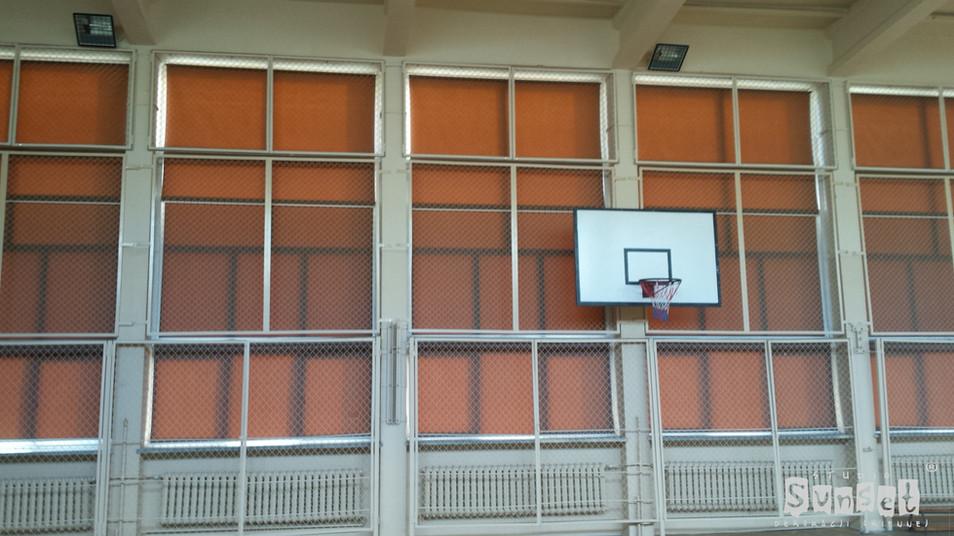 rolety materiałowe - sala gimnastyczna