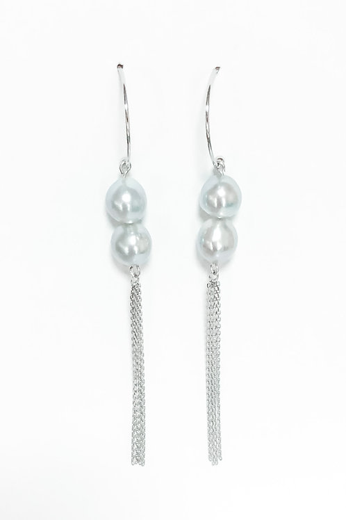 Double Akoya Chain Tassel