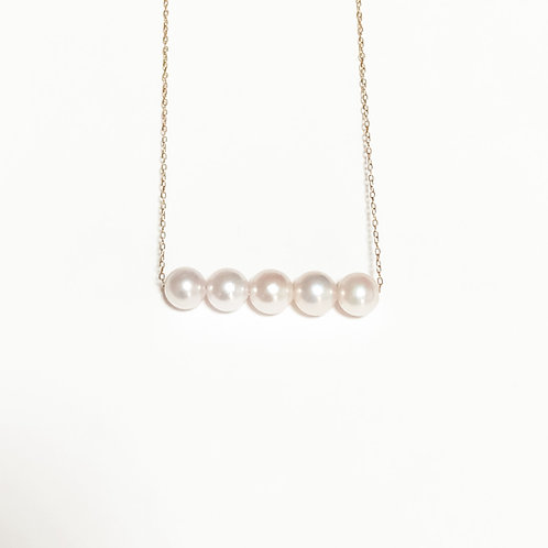 Akoya Necklace Elegant Five