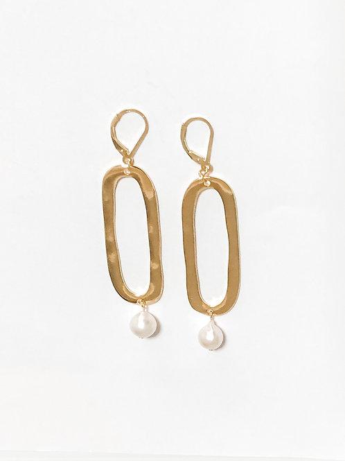Akoya Long Charm Earrings