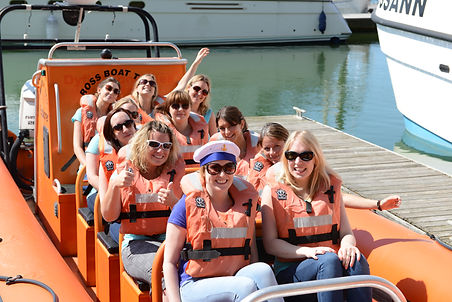 Hen party power boat ride