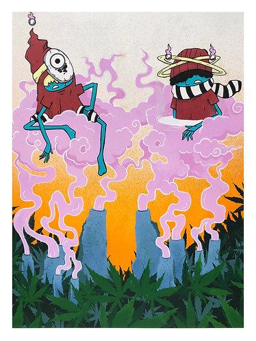 "A Cozm & Naught 420 Digital Print -  11"" x 15.5"""