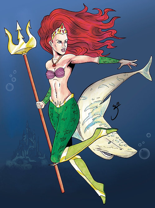 Ariel Comic Print 8.5x11