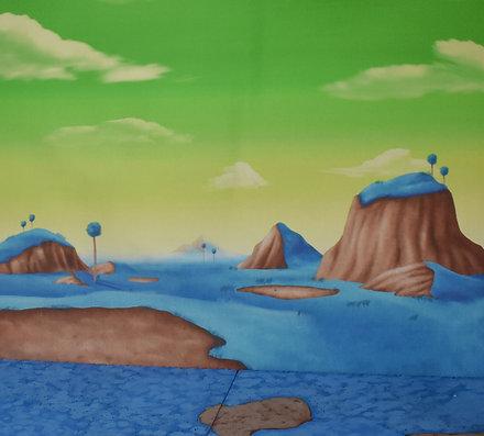 Namek Fabric Background