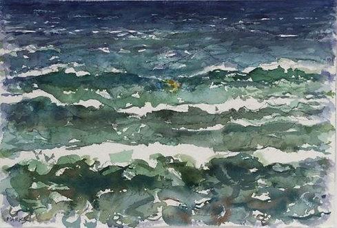 Sea with Figure