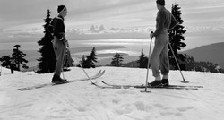 Skiers on mt Seymour