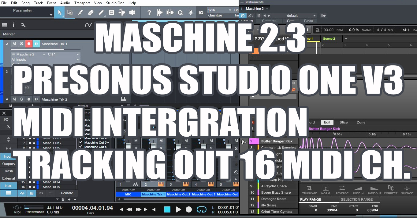 Presonus Studio One V3 Maschine 2.3 Intergration Tracking Out 16 MIDI Channels.jpg