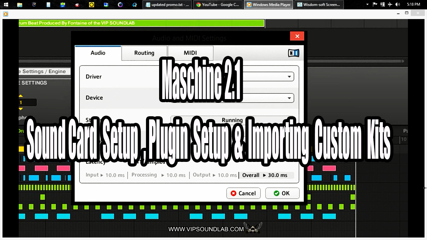 Maschine 2.1 Sound Card Setup Plugin Setup Importing Custom Kits.jpg