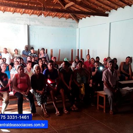 Reunião comunitária na comunidade de São Domingos