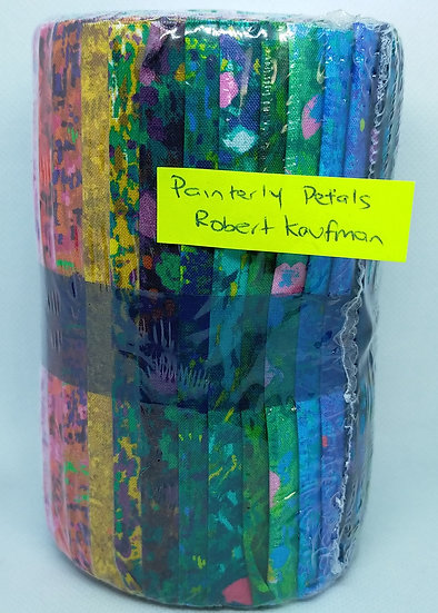 """Jelly Roll    5"""" Strips  Painterly Petals"""