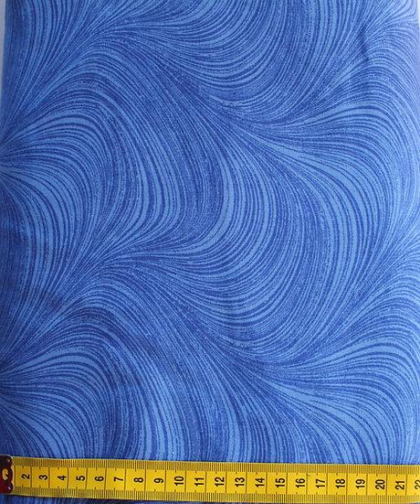 52    Wide Backing  Wave  Med Blue