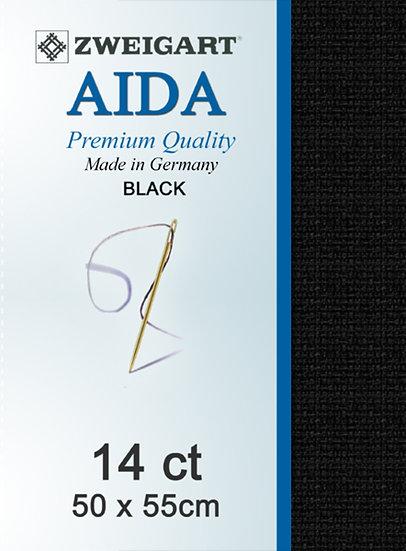 14 Ct Aida Black FQ