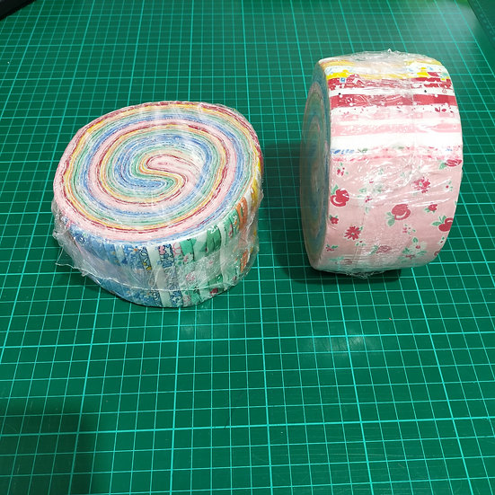 Jelly Roll    2.5 Strips  Pastel Colours