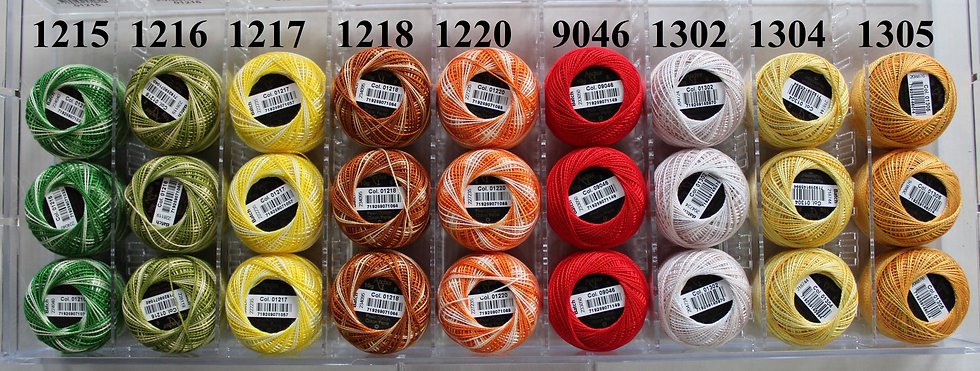 1215 - 1375 & 9046 Anchor Pearl 8 Cotton