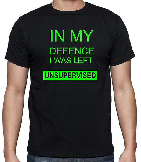 In my defence T-Shirt Green