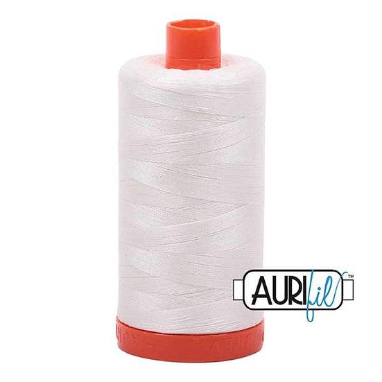 2026 Chalk Aurifil Thread 50 Wt 100% Cotton