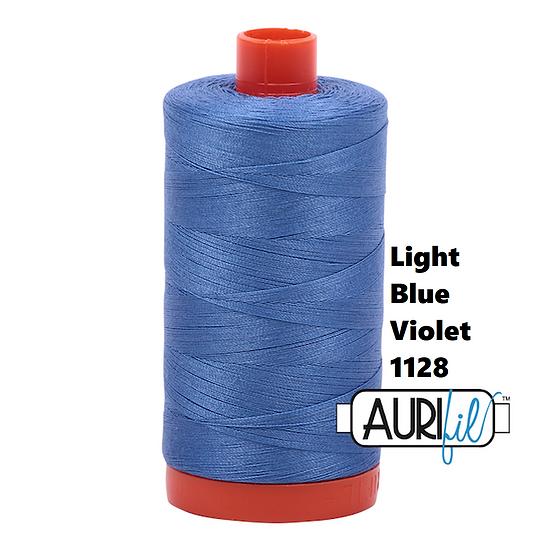 1128 Light Blue Violet  Aurifil Thread 50 Wt 100% Cotton