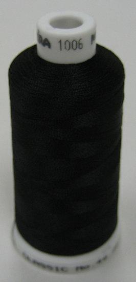 Madeira Rayon Classic 40 #1006 - Diamond Black