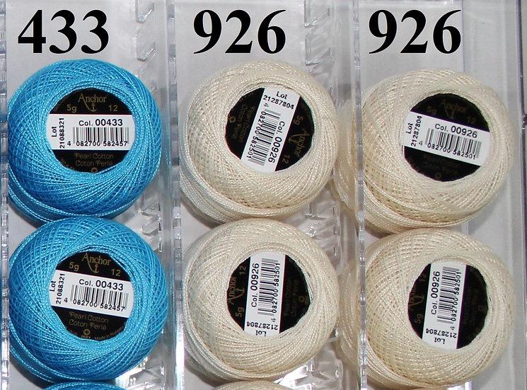 0433 Anchor Pearl 12 Cotton