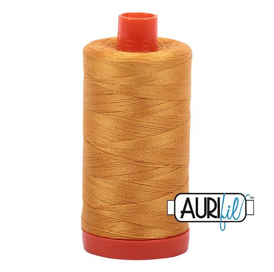 2140 Orange mustard Aurifil Thread 50 Wt 100% Cotton