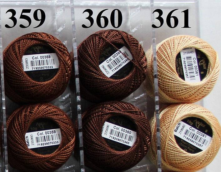 0360 Anchor Pearl 8 Cotton