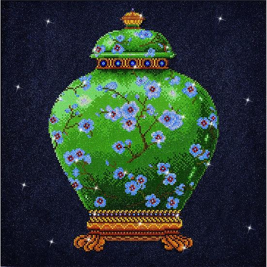 DD12.021 DIAMOND DOTZ® Green Vase