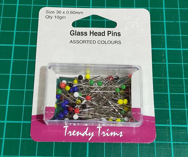 HA57301  Glass Head Pins   Size 30 x 0.60mm