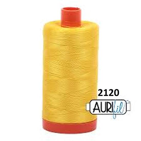 2120 Canary Aurifil Thread 50 Wt 100% Cotton