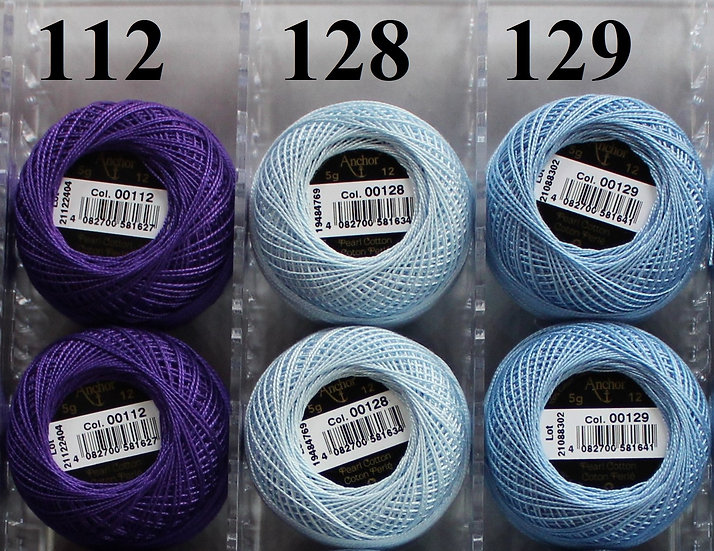 0129 Anchor Pearl 12 Cotton