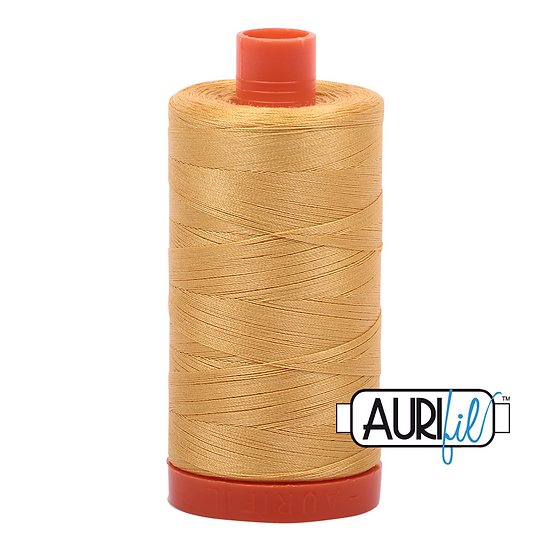 2134 Spun Gold Aurifil Thread 50 Wt 100% Cotton