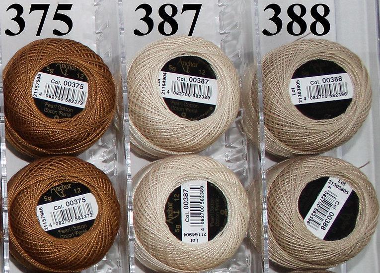 0375 Anchor Pearl 12 Cotton