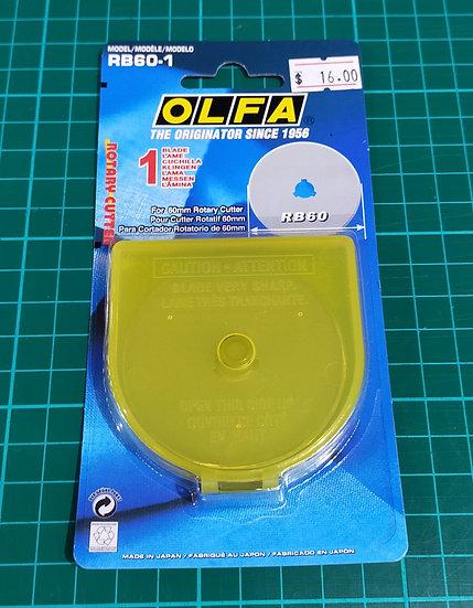 RB60-1  Olfa  60mm  Blade   1 Blade