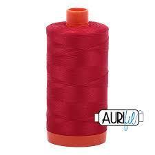 2250 Red Aurifil Thread 50 Wt 100% Cotton