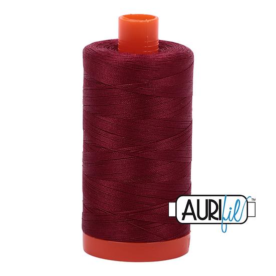 2460 Dark Carmine Red Aurifil Thread 50 Wt 100% Cotton
