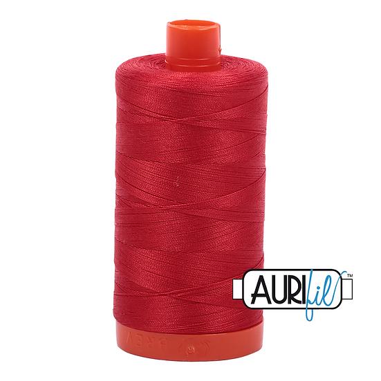 2265 Lobster Red Aurifil Thread 50 Wt 100% Cotton