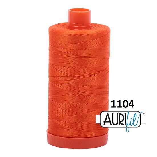 1104 neon orange Aurifil Thread 50 Wt 100% Cotton