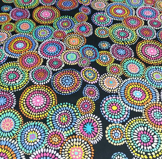 PWGP176  Mosaic Circles  Kaffe Fassett  Black