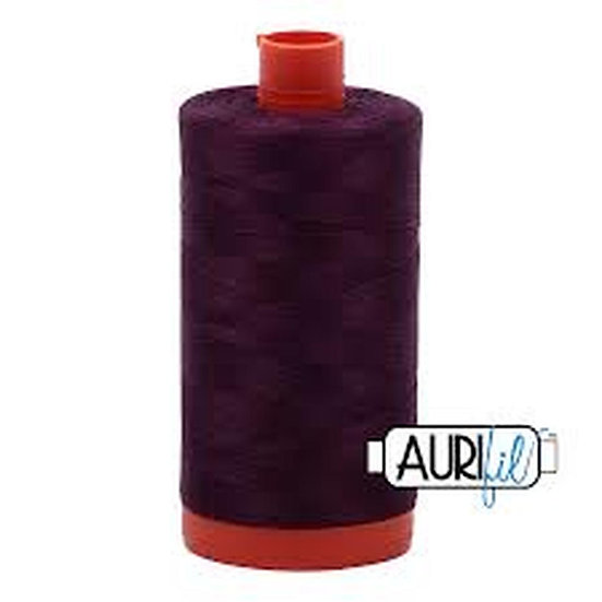 1240 very dark eggplant Aurifil Thread 50 Wt 100% Cotton