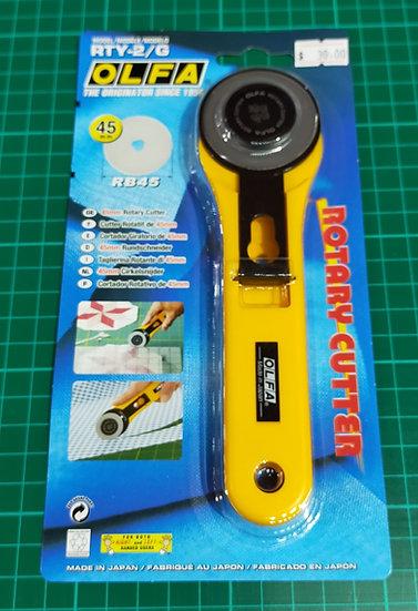 RTY-2/G   Olfa  45mm  Rotary Cutter  Straight Handle