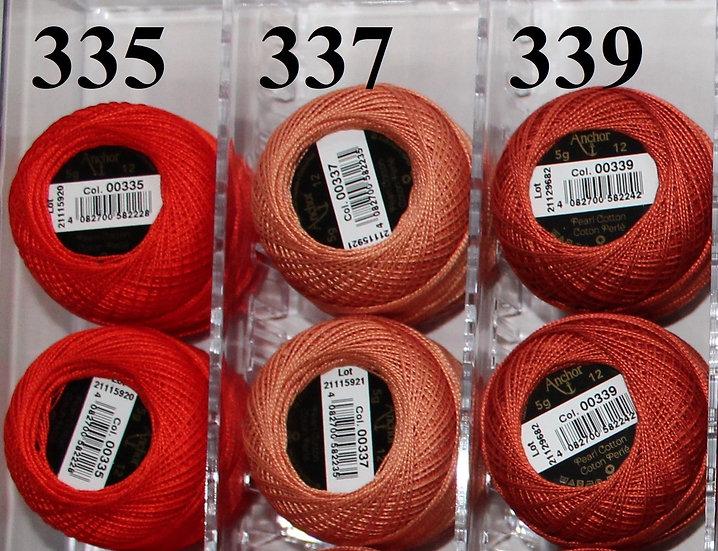 0339 Anchor Pearl 12 Cotton